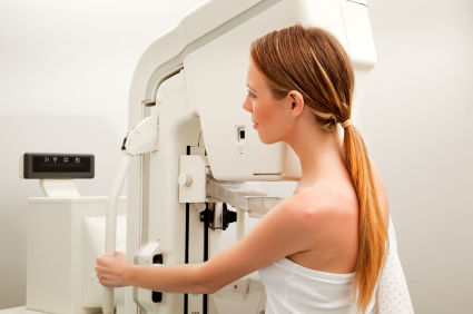 young woman mammogram