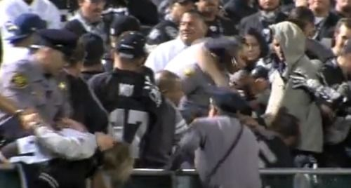 Raiders fans fight