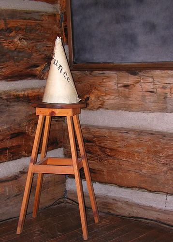 dunce cap punishment school