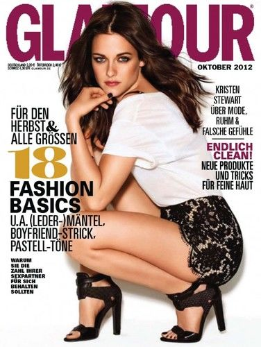 kristen stewart on cover of german glamour