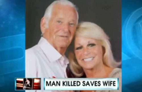 man killed saves wife
