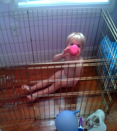 Teen Mom dog cage