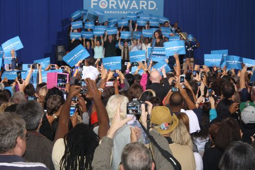 Michelle Obama Campaign Rally Virginia
