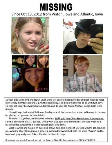 missing iowa teens