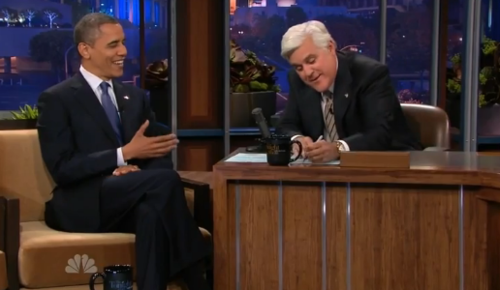 obama on leno talks about trump