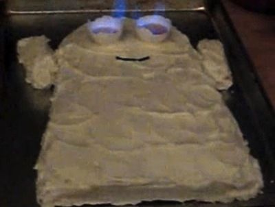 ghost cake flaming eyes
