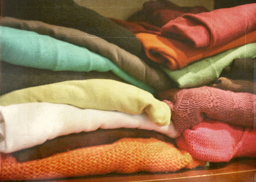stacks of sweaters