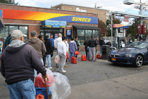 gas line after hurricane sandy