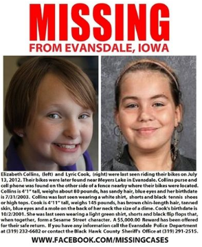 Missing Iowa girls