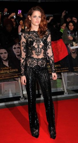kristen stewart breaking dawn premiere black lace jumpsuit