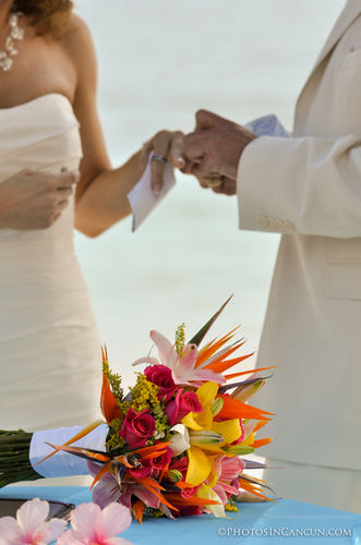 bride and groom destination wedding