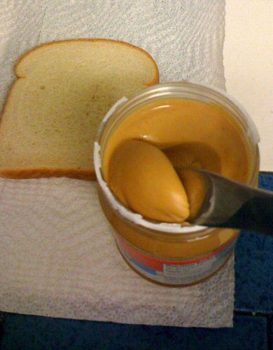 peanut butter and white bread