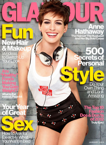 anne hathaway glamour january