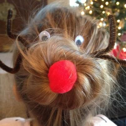 reindeer sock bun