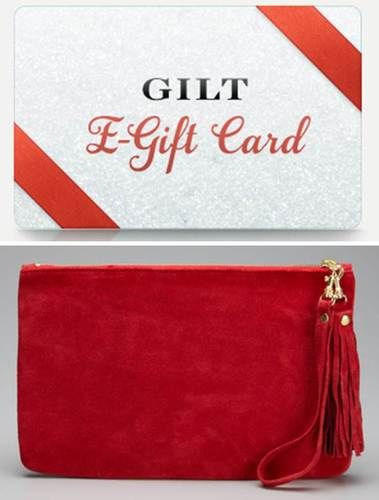 Gilt.com gift card and elorie wristlet