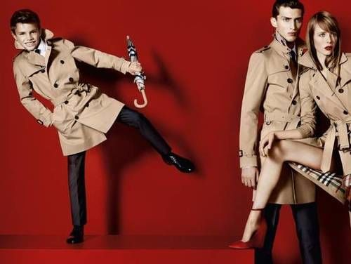 Romeo Beckham in Burberry