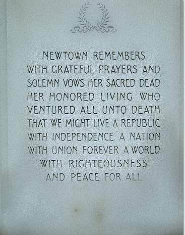 plaque in Newtown