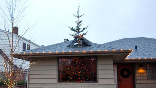 Christmas Tree Bursts Through Roof Amp We Bet Even Santa S