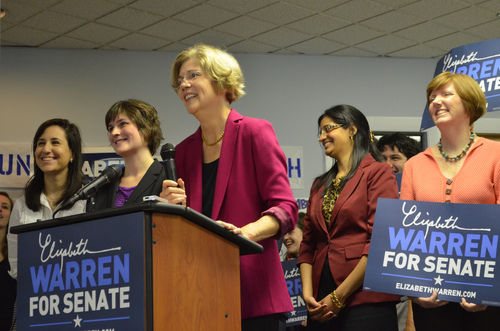 elizabeth warren sandra fluke election 2012