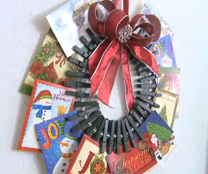 card wreath