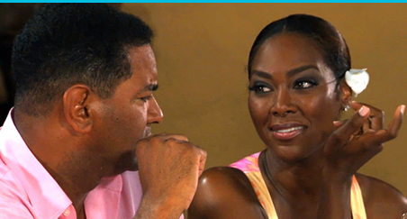 Walter Jackson and Kenya Moore