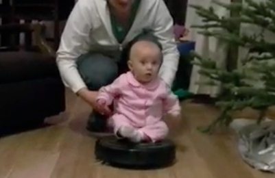 baby on roomba