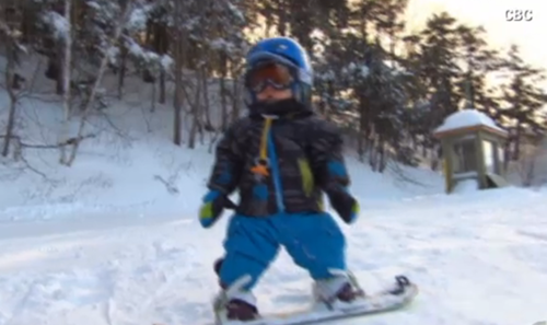 toddler snowboard