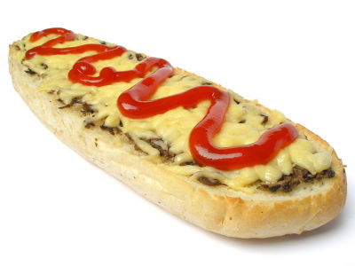 philly cheesesteak with ketchup