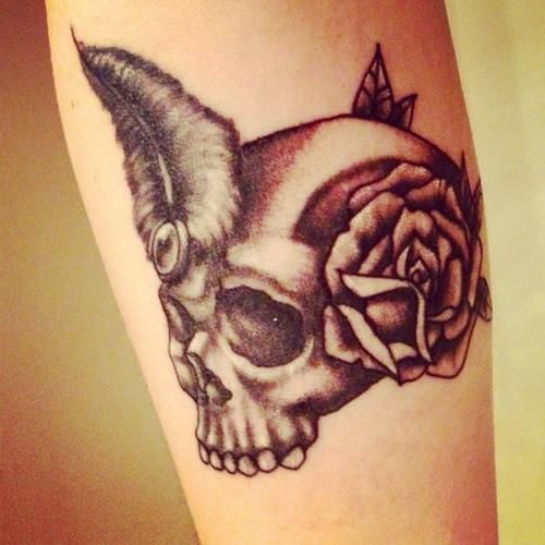 Jenelle Evans new skull tattoo