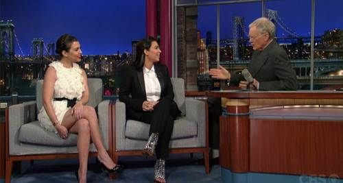 Kourtney and Kim Kardashian on David Letterman