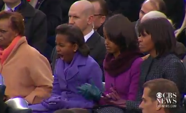 Sasha Obama Yawn