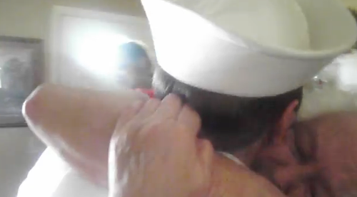 sailor surprises grandma