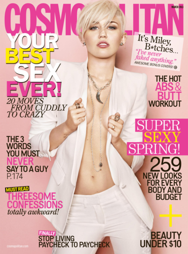 Miley Cyrus Cosmo