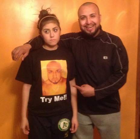 Girl forced to wear shirt with dad's face for breaking curfew