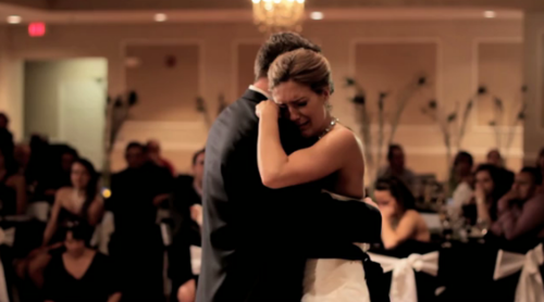 andrea bride brother surprised her father daughter dance