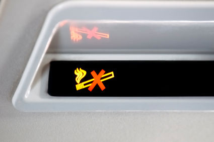 no smoking plane sign