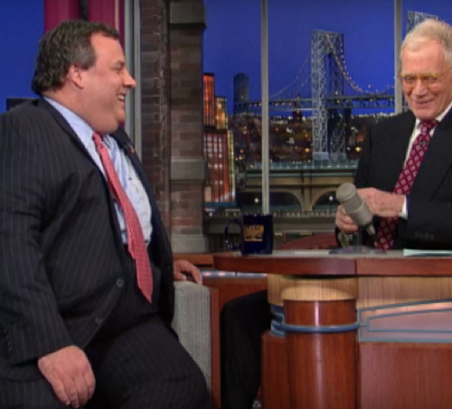Chris Christie Letterman