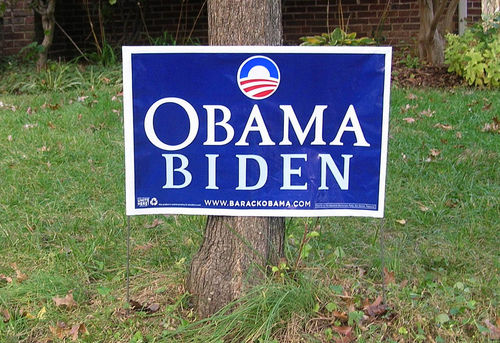 Obama yard sign