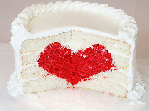 Valentine S Day Cake Recipes Pictures : Gorgeous Valentine s Day Cake Recipe With Surprise Heart ...