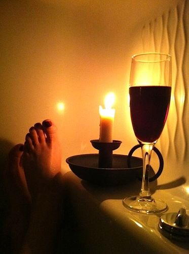 tub and wine
