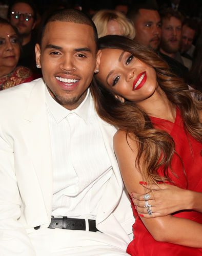 Chris Brown & Rihanna at the 2013 Grammy Awards