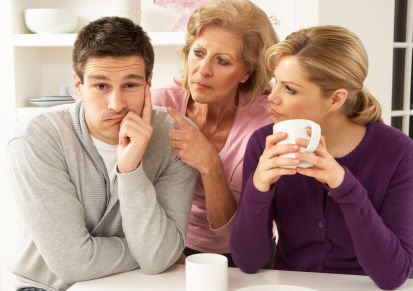 mother interferring with couple