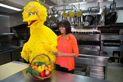 michelle obama, big bird