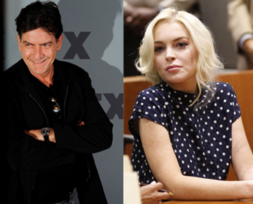 charlie sheen lindsay lohan