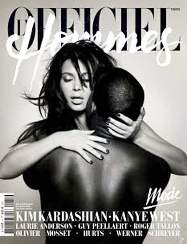 kim and kanye cover of l'officiel hommes