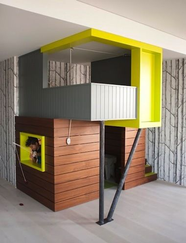 7 indoor playhouses that are beautiful additions to any for Big kids play house