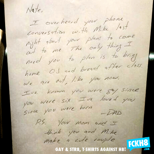 Father's letter to his gay son