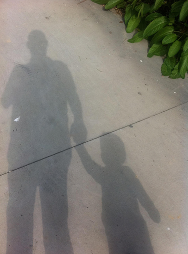father son shadow
