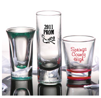 prom shot glasses