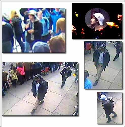 FBI photos Boston marathon suspects